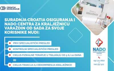 Croatia osiguranje i Nado centar za kralježnicu Varaždin - pogodnosti